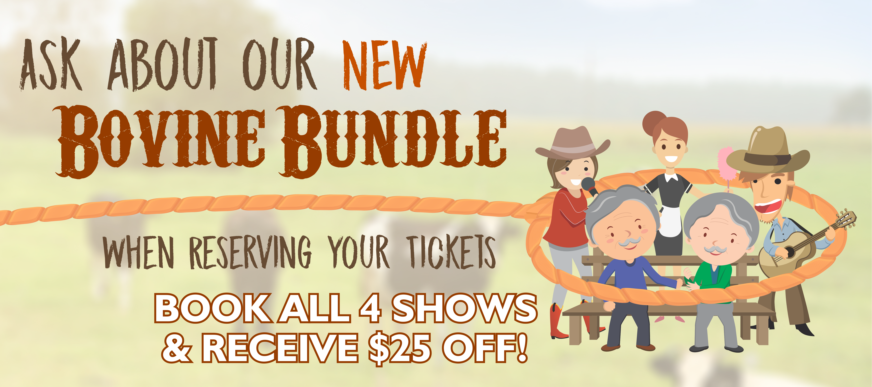 Cow Patti Bovine Bundle - Book 4 shows & receive $25 off!