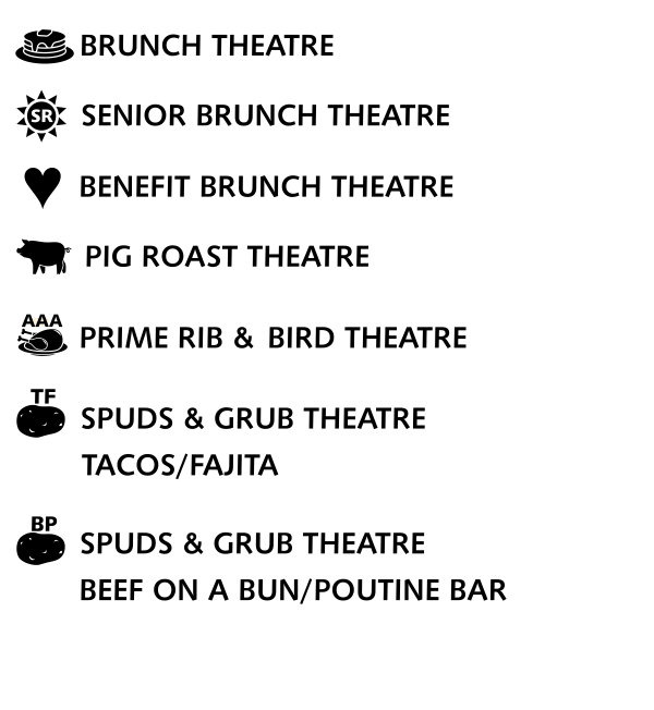 Theatre Grub for On A First Name Basis produced by Cow Patti 2022